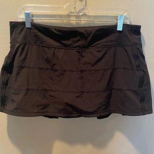 Lululemon 🍋🍋 black pace rival skirt size 12